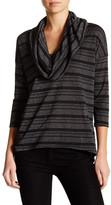 Michael Stars Cowl Neck Striped Shirt