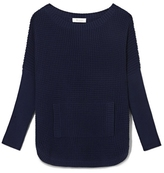Two by Vince Camuto Waffle-stitch Sweater