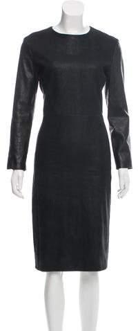 The Row Suede Midi Dress