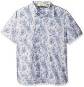 Perry Ellis Men's Short Sleeve Abstract Floral Print Shirt