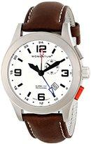 Momentum Men's Quartz Watch VORTECH GMT 1M-SP58L2C with Leather Strap