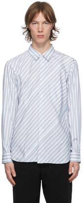 Comme des Garçons Homme Deux White and Blue Stripe Shirt
