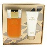 Cartier MUST DE by Gift Set -- 3.3 oz Eau De Toilette Spray + 3.3 oz Body Cream (Women)