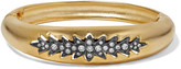 Elizabeth Cole Irelyn gunmetal and gold-plated crystal bracelet