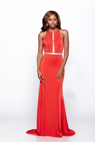 Milano Formals - Contrast Halter Evening Gown E2112
