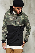 Forever 21 FOREVER 21+ Camo Print Paneled Hoodie