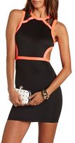 Charlotte Russe Color Block Lace Inset Body-Con Dress