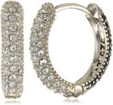 Judith Jack Sterling , Marcasite, and Crystal Hoop Earrings