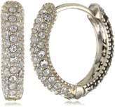 Judith Jack Sterling , Marcasite, and Crystal Hoop Earrings