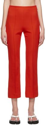 Rudi Gernreich Orange Ring Zipper Trousers