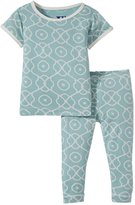 Kickee Pants Print Pajama Set (Baby) - Jade Symphony-0-3 Months