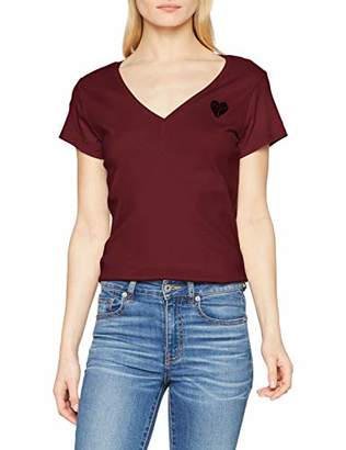 G Star Women's Graphic 51 Slim T-Shirt Port red 4608, Medium
