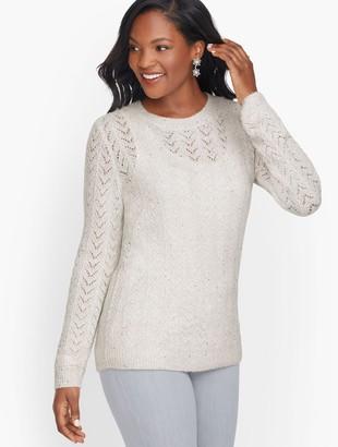 Talbots Allover Pointelle Shimmer Sweater