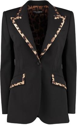 Dolce & Gabbana Contrast Trim Wool Blazer