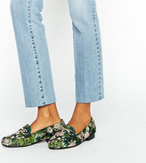 Asos Mineral Wide Fit Jacquard Loafers