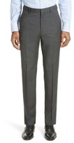 Z Zegna Men's Flat Front Houndstooth Wool Trousers