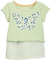 Kanz Short Sleeve Front Graphic Print Tee (Toddler & Little Girls)