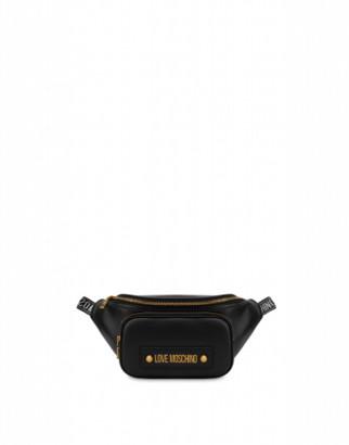 Love Moschino Logo Waist Bag Woman Black Size U It - (one Size Us)