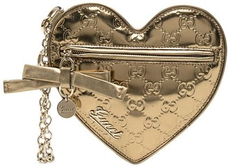 Gucci Monogram Heart Clutch