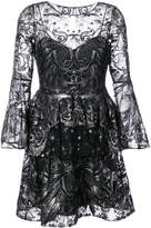Marchesa sequin embroidered tulle dress