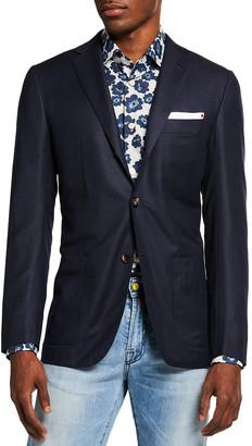 Kiton Men's Solid Birdseye Sport Jacket