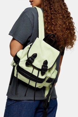 Topshop Womens Lime Green Mini Nylon Backpack - Lime
