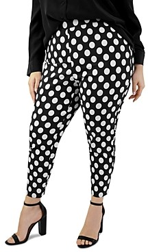 Maree Pour Toi Plus Polka Dot Print Skinny Pants