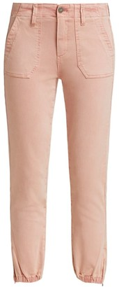 Paige Mayslie High-Rise Straight-Leg Denim Joggers