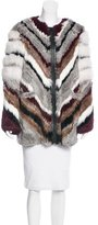 Elizabeth and James Tarra Chevron Fur Coat