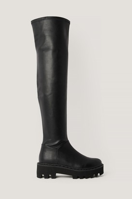 NA-KD Thigh High Profile Sole Boots