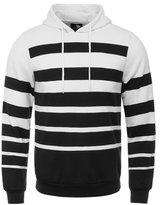 Jiayiqi Men's Wide Stripe Basketball Hoodie Casual Thick Hoody Sweatshirt XL