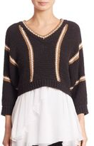 Brunello Cucinelli Wool Cropped Sweater