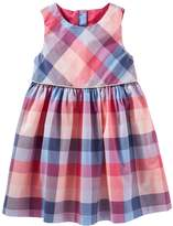 Osh Kosh Toddler Girl Button-Back Plaid Dress