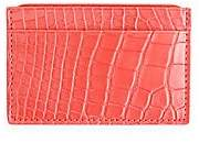 ROYCE New York Women's RFID Blocking Alligator Credit Card Case