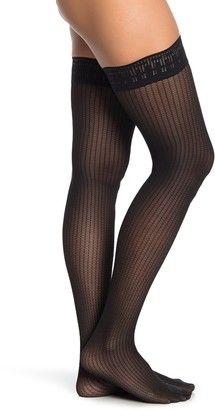 Wolford Trinity Stay-Up Thigh High Tights