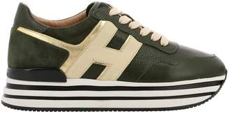 Hogan Sneakers Sneakers In Smooth Laminated Leather With Suede Heel And 222 Sole