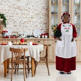 Fraser Hill 58-In. African American Dancing Life-Size Mrs. Claus with Apron