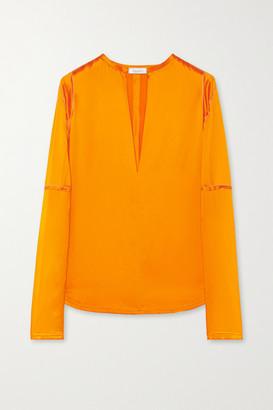 Nina Ricci Silk-satin Blouse - Bright orange