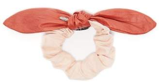 Lafayette House Of Two-tone Bow Suede Scrunchie - Womens - Pink