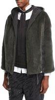 Brunello Cucinelli Reversible Mink Fur Hooded Jacket with Taffeta Lining