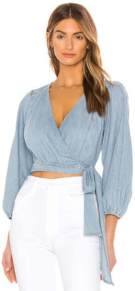 Free People Sophie Denim Top