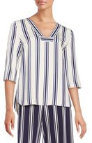 1 STATE Striped Blouse