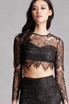 Forever 21 Crop Top and Skirt Set