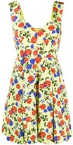 Emilia Wickstead silk floral flared mini dress