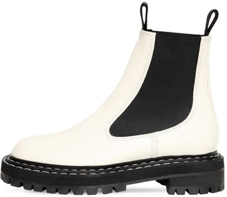 Proenza Schouler 30mm Leather Beatle Boots