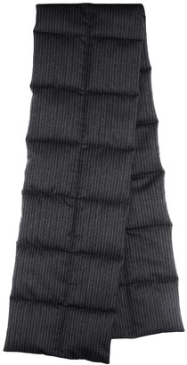 Dries Van Noten Quilted pinstriped wool scarf