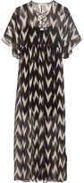 Rachel Zoe Carroll Printed Crinkled Silk-chiffon Maxi Dress - Black