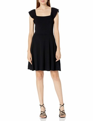 Three Dots Women's AA5884 Flutter SLV Square Neck Dress