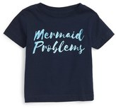 Kid Dangerous Infant Girl's Mermaid Problems Graphic Tee