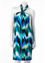 JLO by Jennifer Lopez ikat halter dress